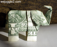 How to make origami elephant out of money - photo#14