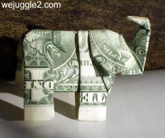 How To Fold A Dollar Bill Elephant - DIY Crafts Tutorial ... | 200x240